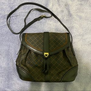 AUTHENTIC VINTAGE BALLY LEATHER CROSSBODY BAG